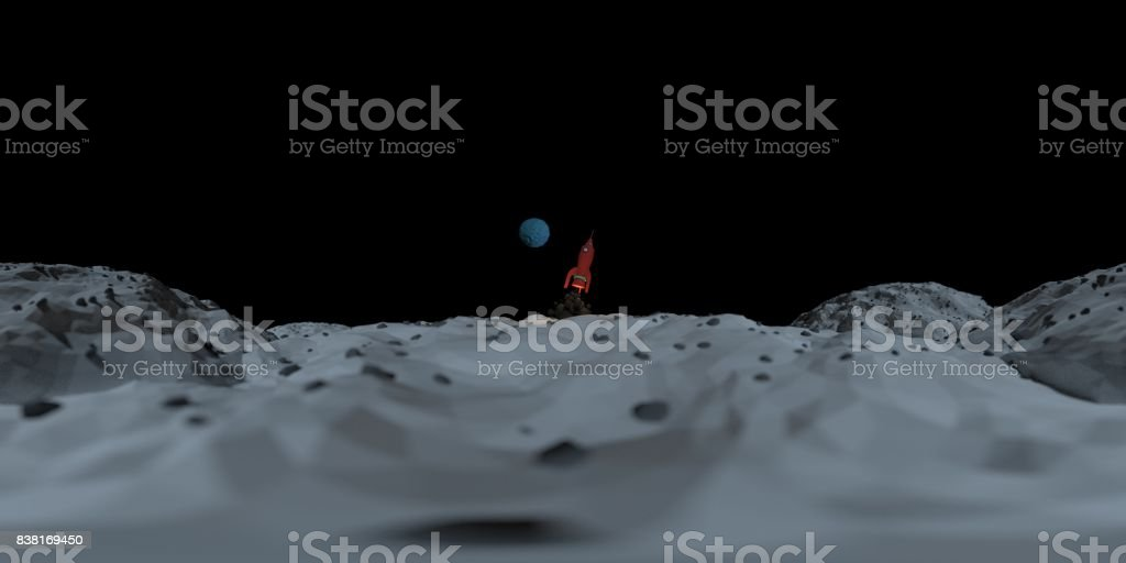 EP360 Mars Mission Rocket UP stock photo