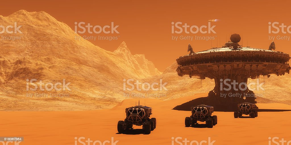 Mars Outpost stock photo