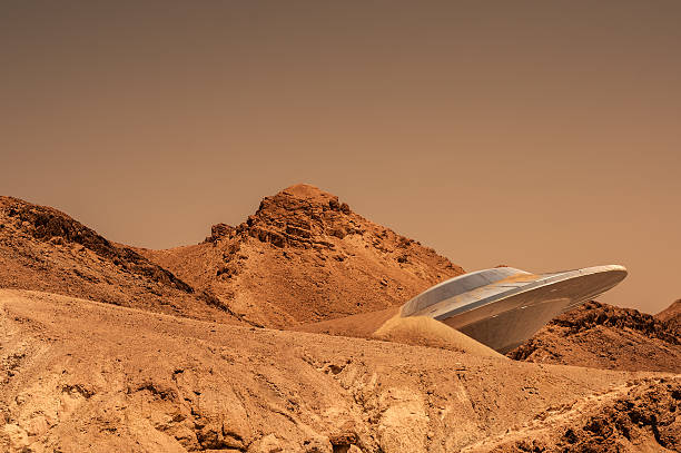 mars - ufo stockfoto's en -beelden