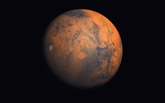 Artist's concept of Mars Planet ( Elements of this image furnished by NASA.Credit must be given and cited to NASA)