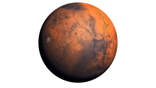 planète mars isolé en blanc - venus photos et images de collection