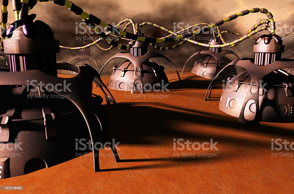 Mars Research Colony stock photo