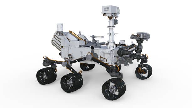 Mars Rover, automated space motor vehicle isolated on white background, 3D render Mars Rover, automated space motor vehicle isolated on white background, 3D rendering rover stock pictures, royalty-free photos & images