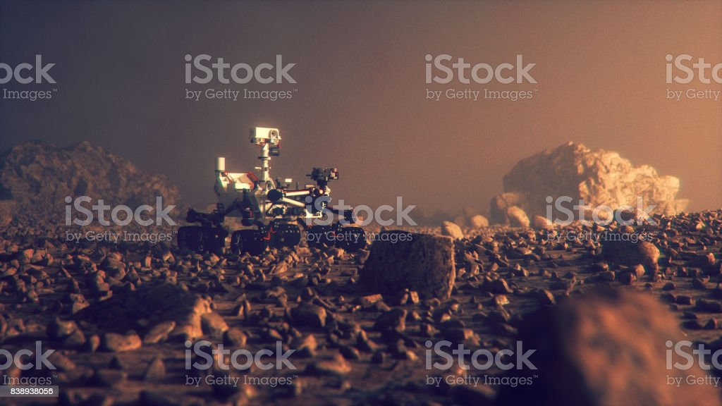 Exploration de mars Rover sur la surface de la planète - Photo