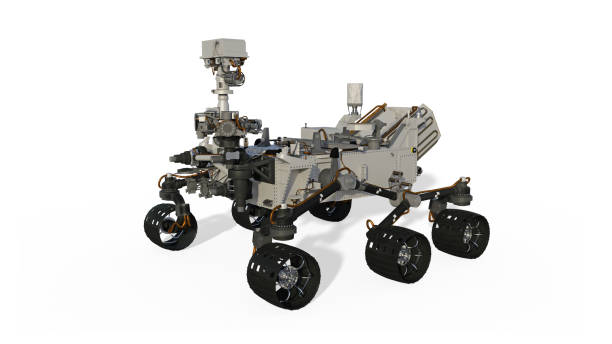 Mars Rover, Space Vehicle isolated on white background, 3D render Mars Rover, Space Vehicle isolated on white background, 3D rendering rover stock pictures, royalty-free photos & images