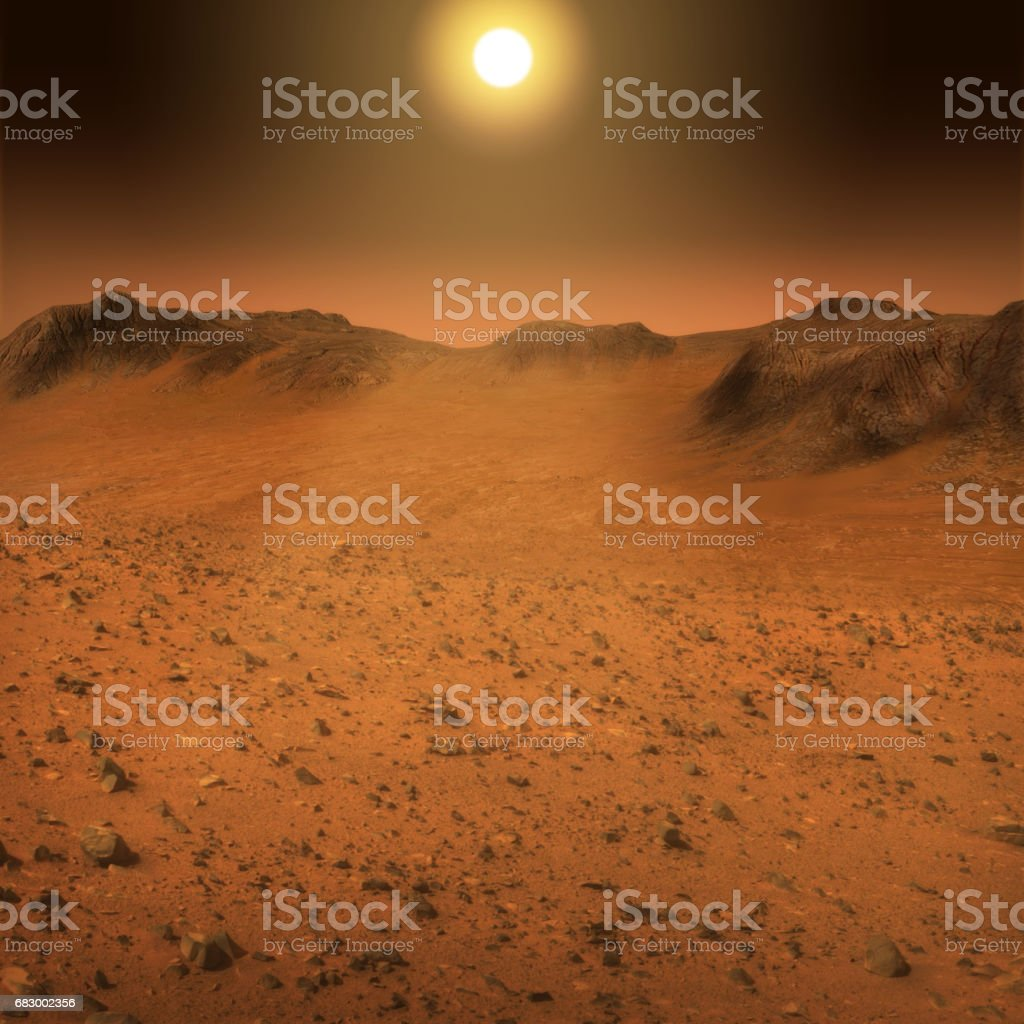 Mars Surface Landscape stock photo