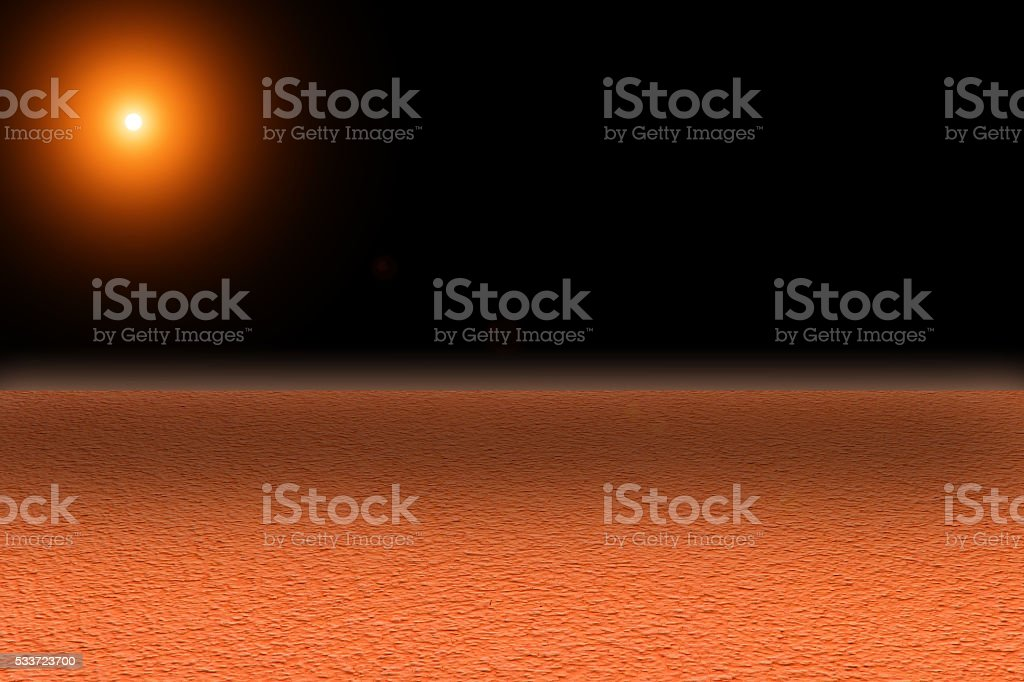 Mars surface stock photo