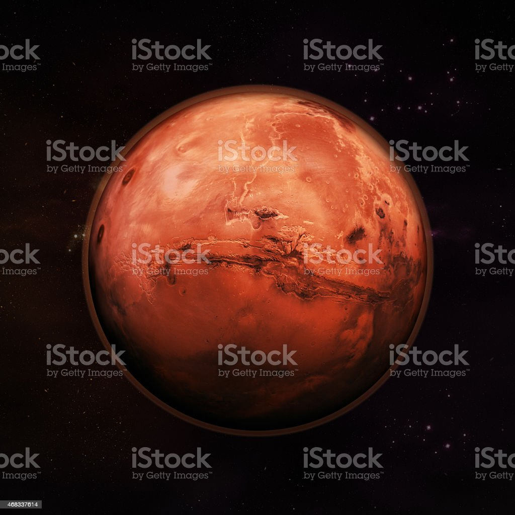 Mars - The Red Planet stock photo