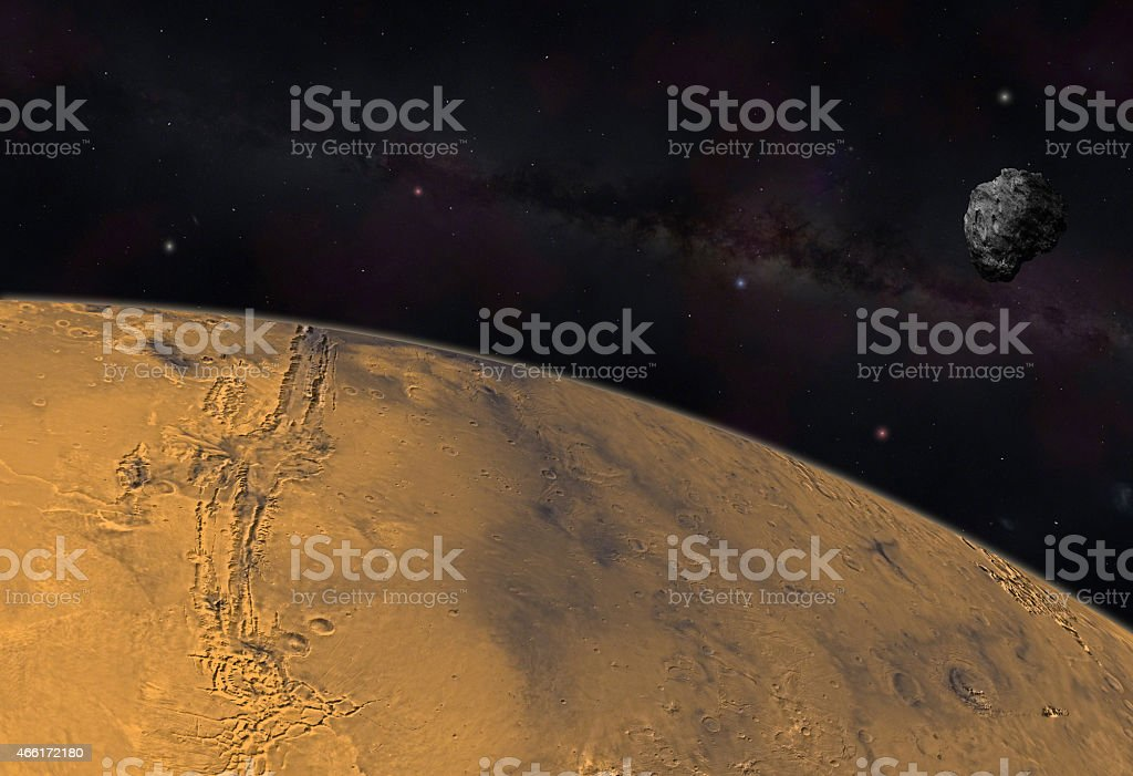 Mars viewed from space stock photo