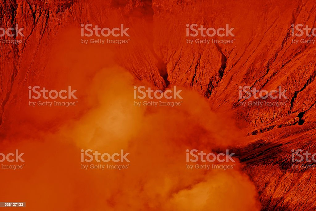 Mars Water Red Planet Desert Surface Atmosphere Sandstorm Cloud Geology stock photo