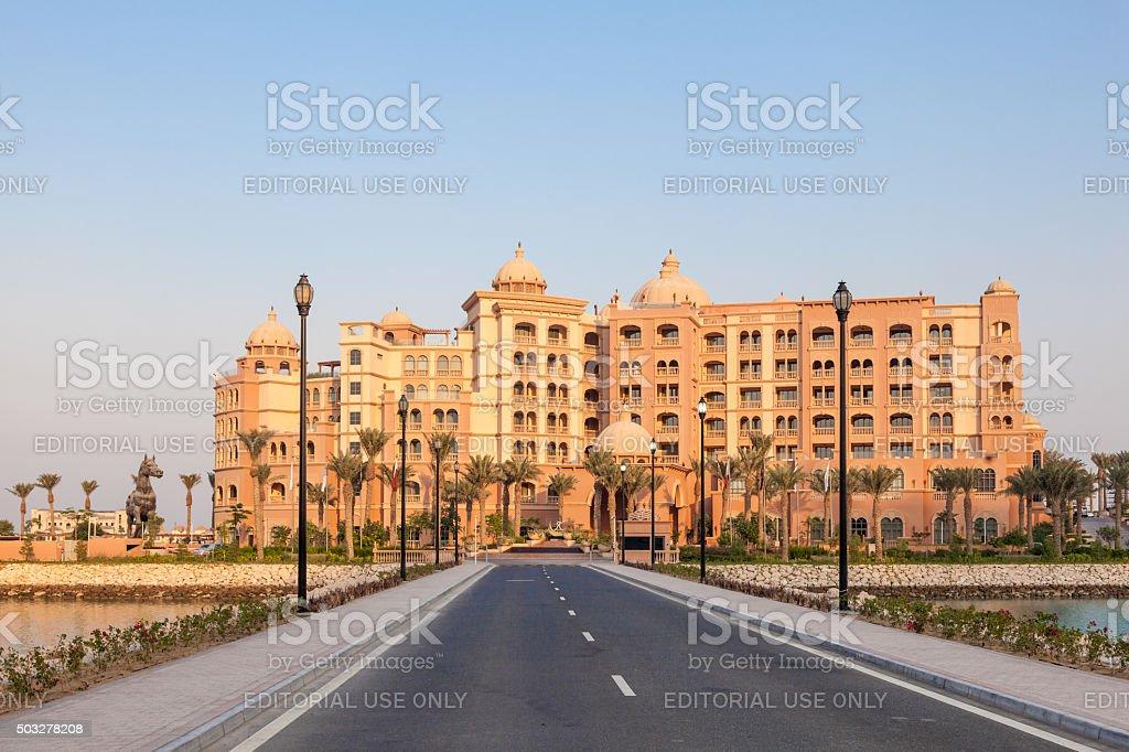 Marsa Malaz Kempinski hotel in Doha, Qatar stock photo