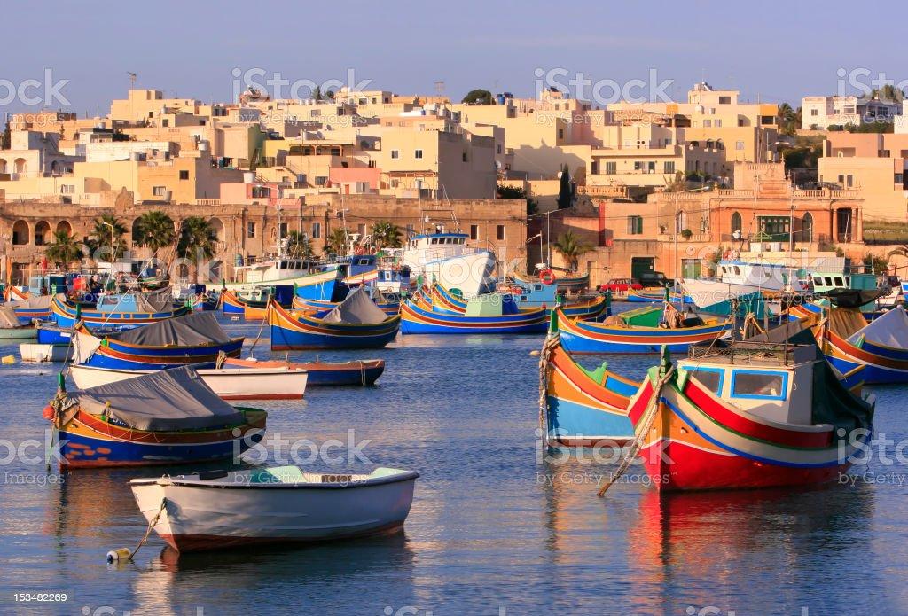 Marsaxlokk Fishing Village stock photo
