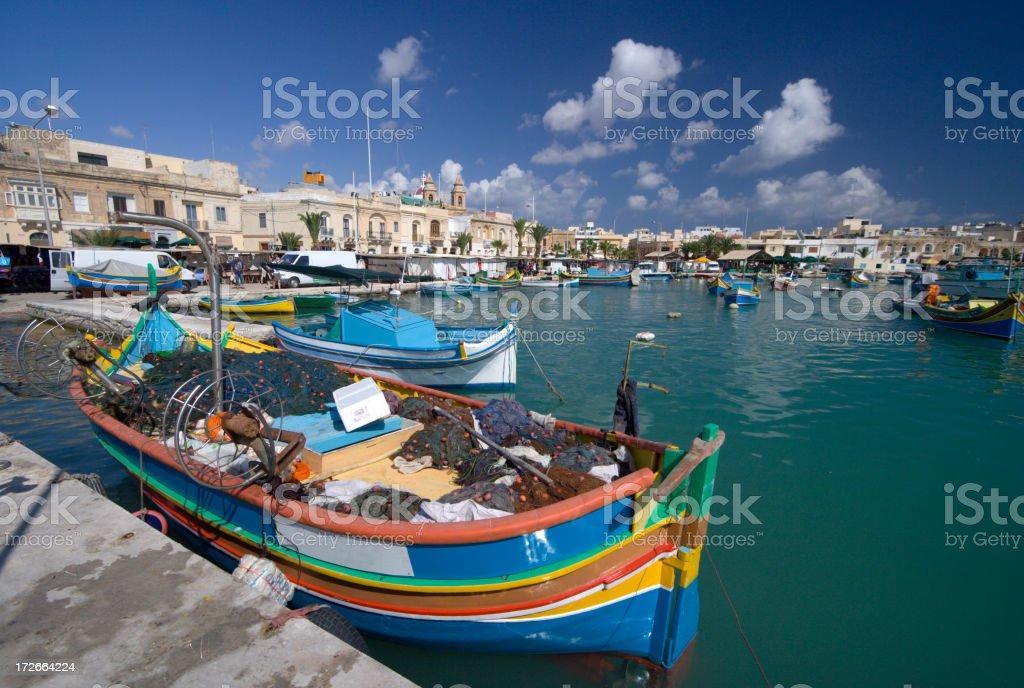 Marsaxlokk Harbor, Malta stock photo