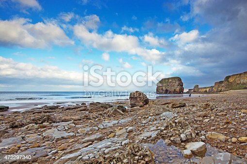 Marsden Rock just south of South Shields where the Great North Run finishes.