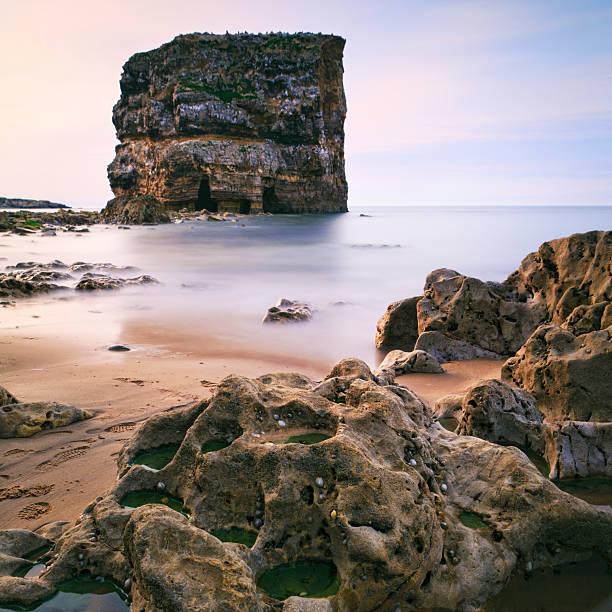 Marsden Grotto Coastline stock photo