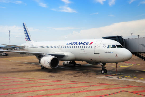 Marseille Airport Airbus A 320 aircraft France Marseille, France - July 20, 2014: Air France Airbus A 320 aircraft at the Marseilles airport. Marseille Airport is one of the largest transport hub in Europe air france stock pictures, royalty-free photos & images