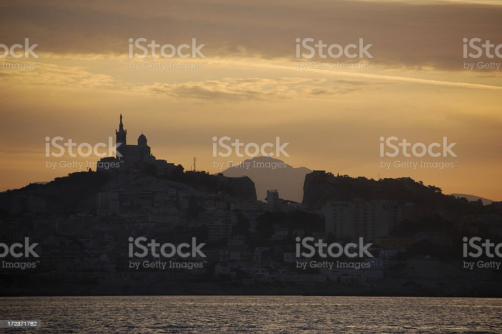 Marseille at sunrise royalty-free stock photo