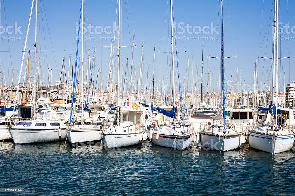 Marseille harbor royalty-free stock photo
