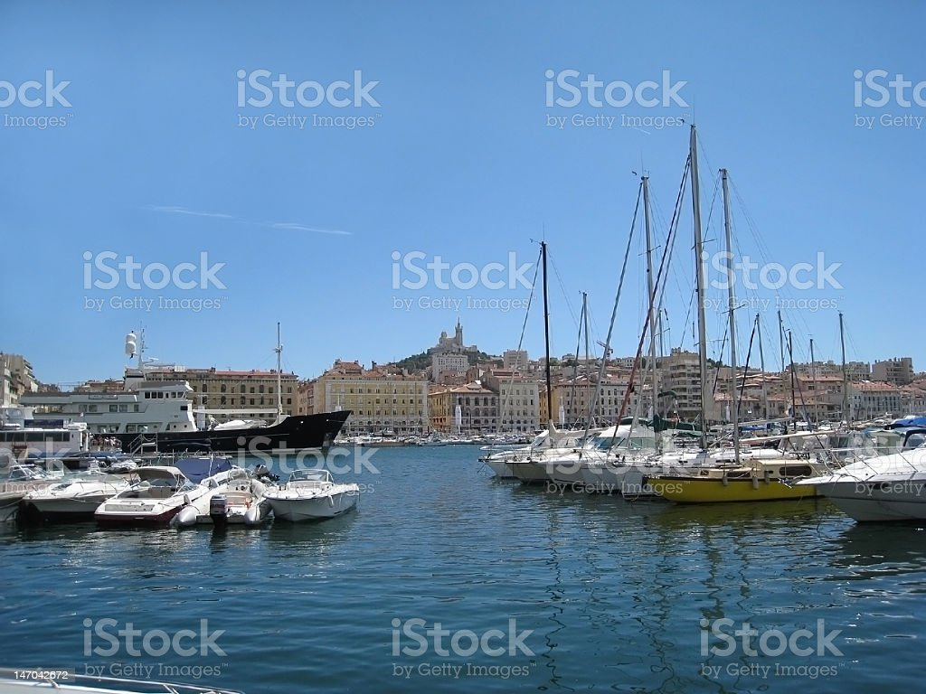 Marseille old port royalty-free stock photo