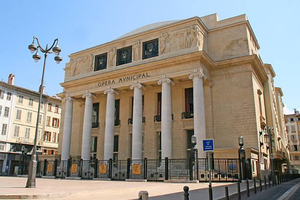Marseille opera house. stock photo