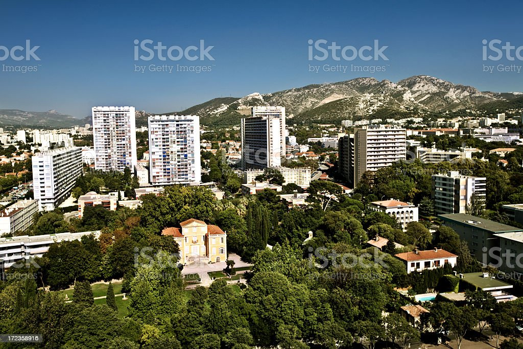 Marseille view royalty-free stock photo