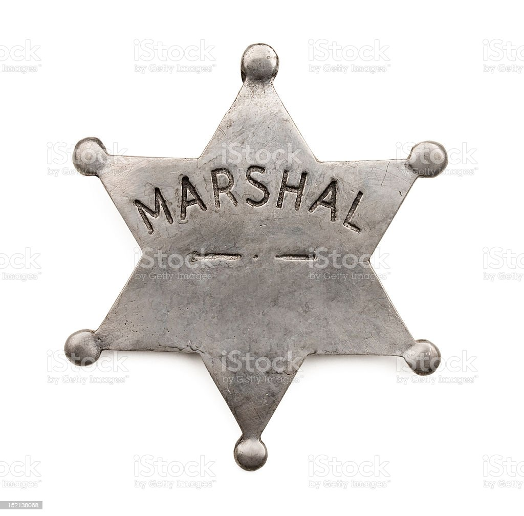 Marshal badge royalty-free stock photo