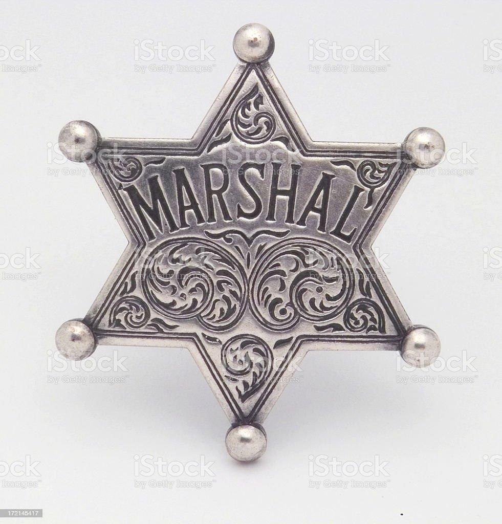 Marshal Badge stock photo