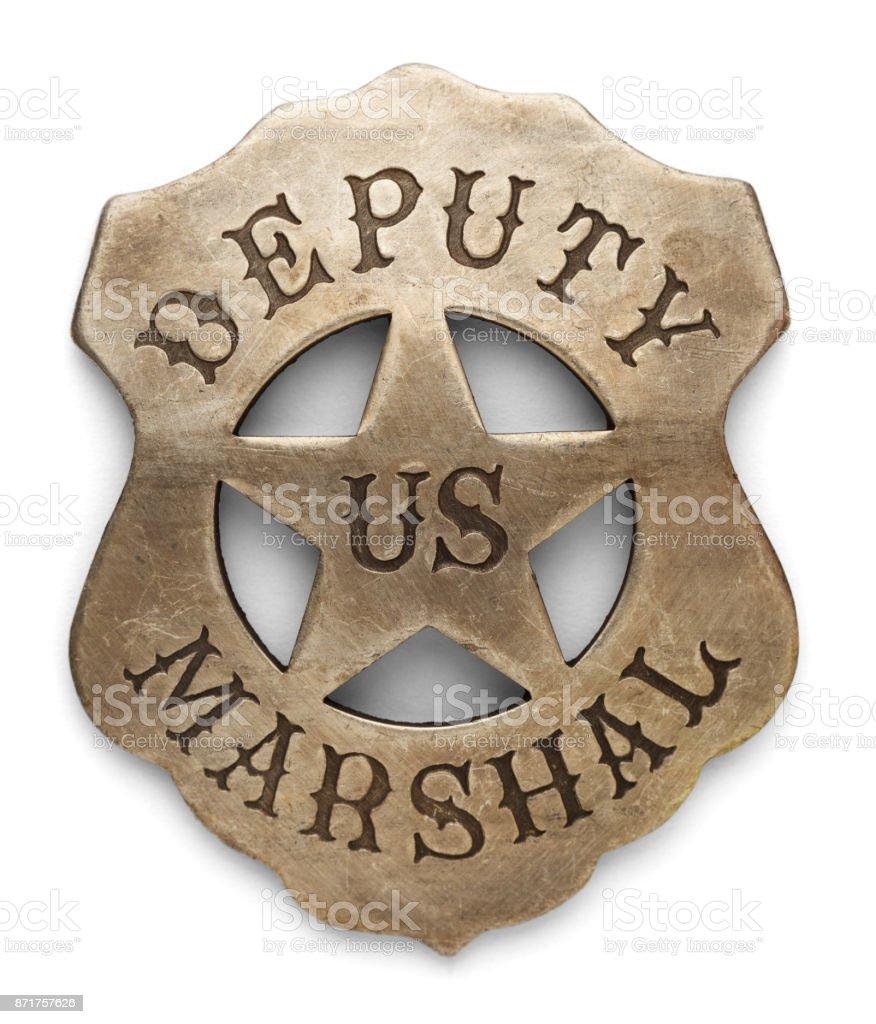 US Marshal Badge stock photo
