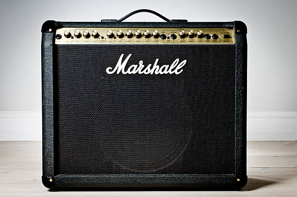 Marshall Amplifier Against a Neutral Background stock photo