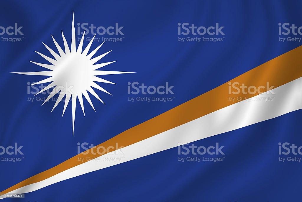 Marshall Islands flag stock photo