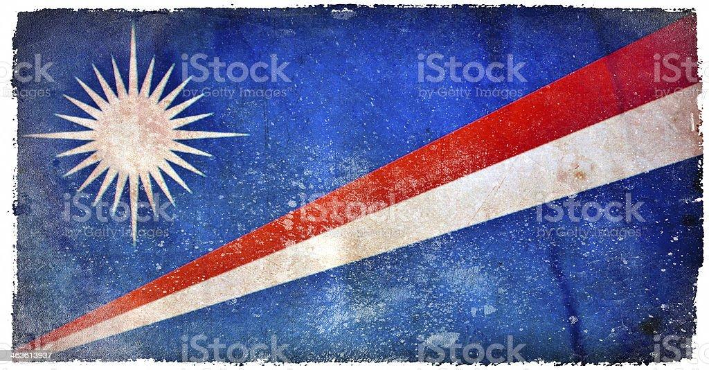 Marshall islands grunge flag stock photo