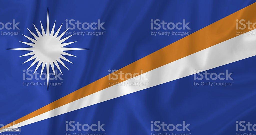 Marshall Islands waving flag stock photo
