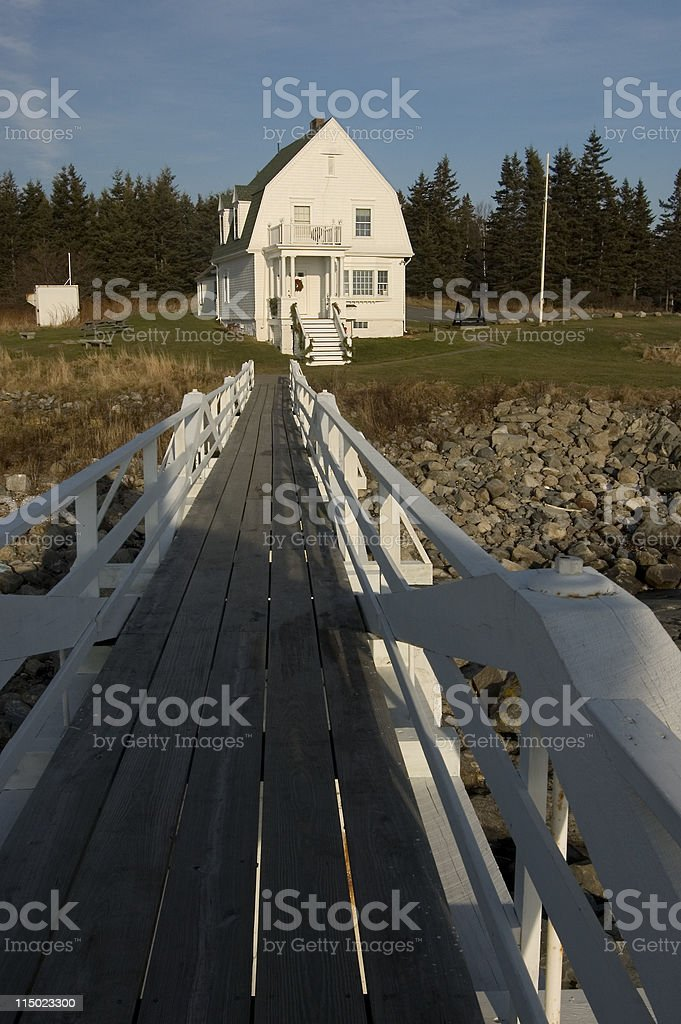 Marshall Point Keeper's House royalty-free stock photo