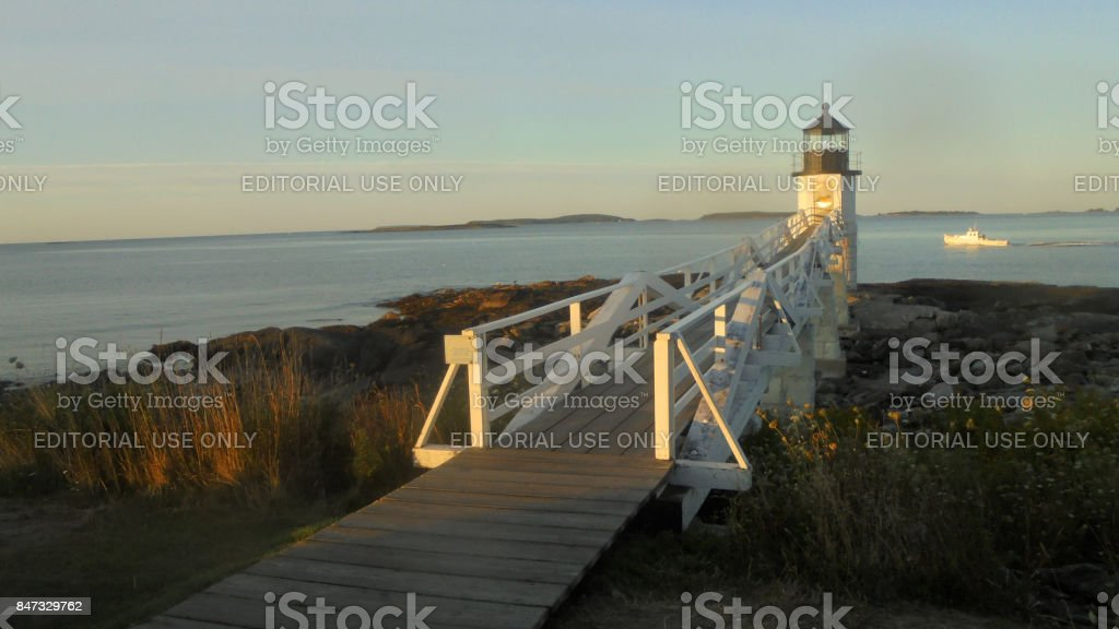 Marshall Point Lighthouse at Dawn stock photo