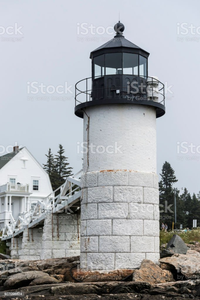 Marshall Point Lighthouse from the front stock photo