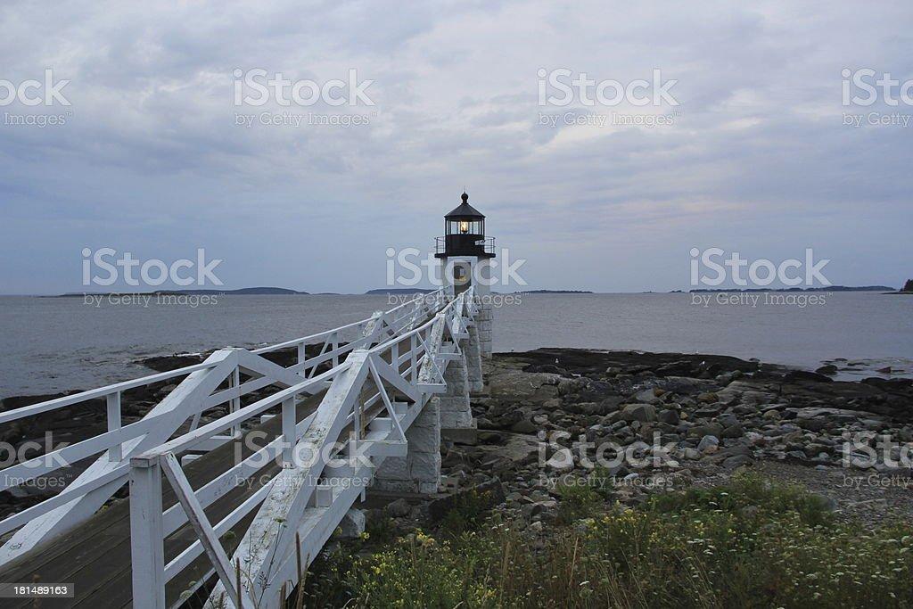Marshall Point Lighthouse royalty-free stock photo