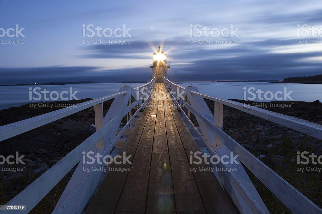 Marshall Point Lighthouse stock photo