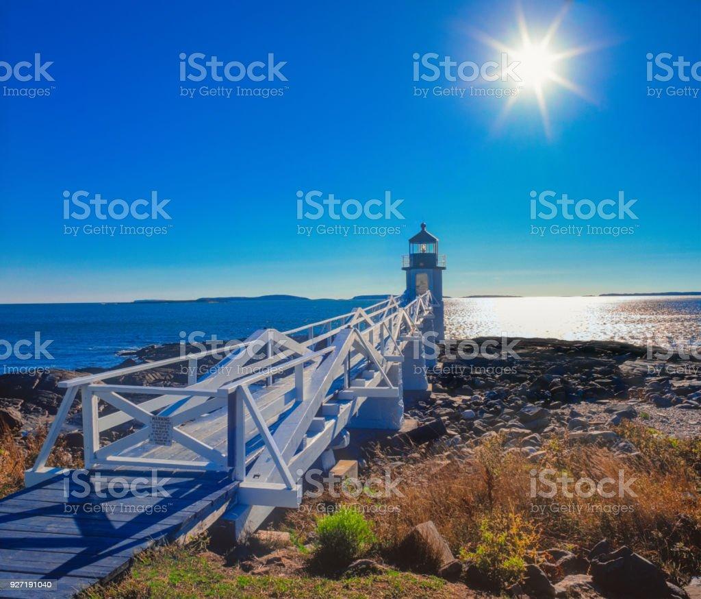 Marshall Point Lighthouse, Port Clyde Maine stock photo