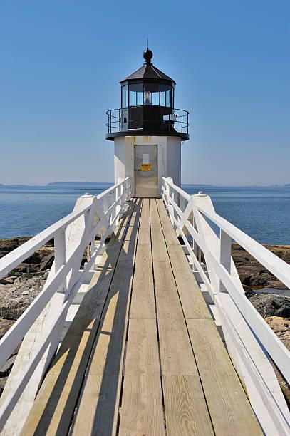 Marshall Point Lighthouse, Port Clyde, Maine, USA stock photo