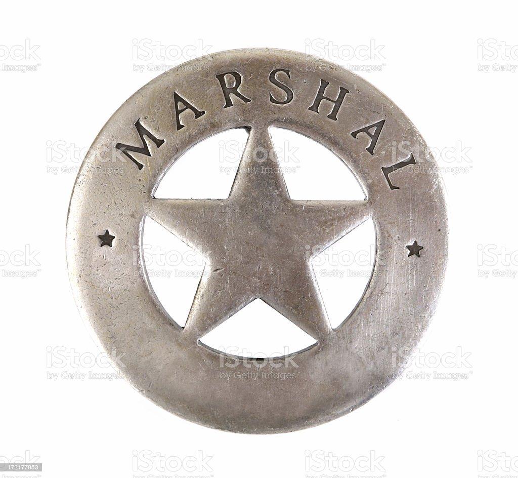 Marshall Sheriff Star Badge stock photo