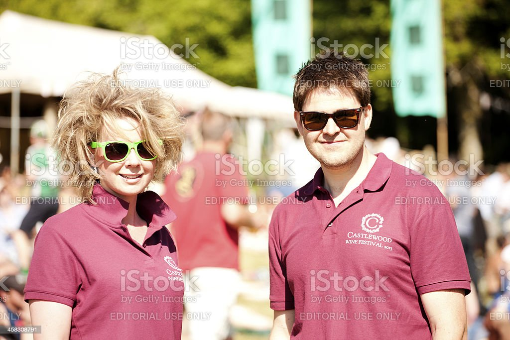 Marshals at a live music event royalty-free stock photo