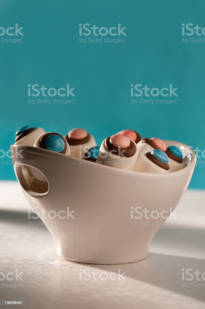 Marshmallow, Chocolate and Candy Treats in a Bowl royalty-free stock photo