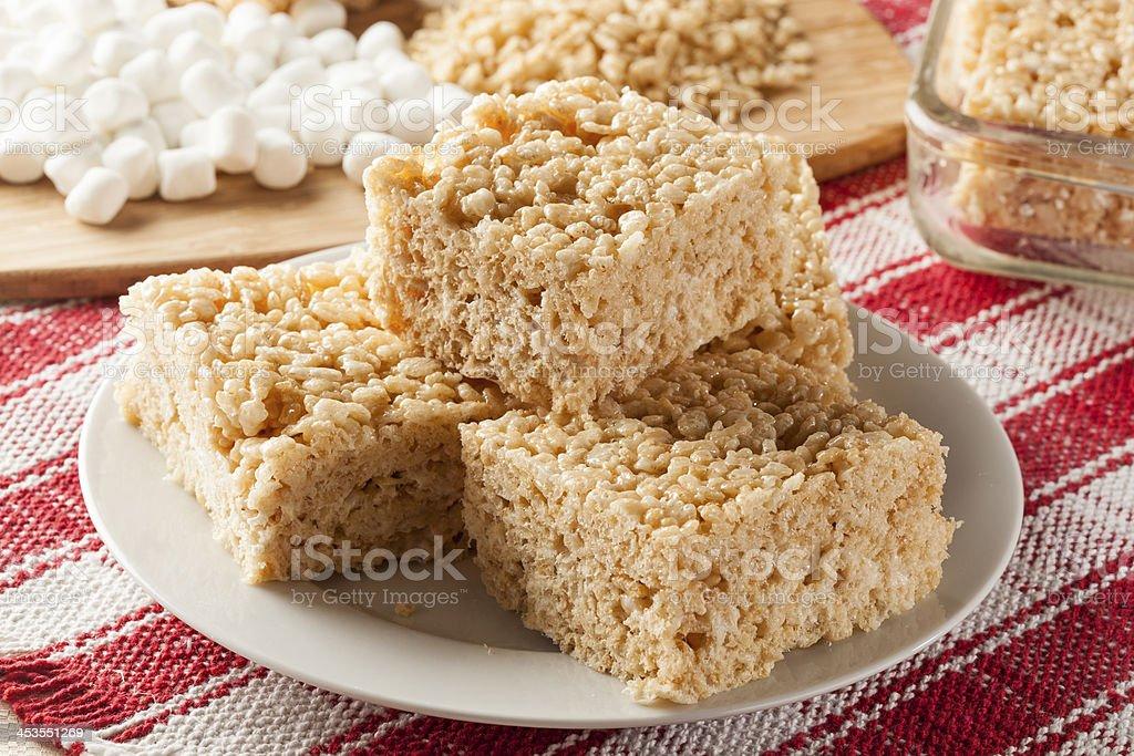 Marshmallow Crispy Rice Treat stock photo