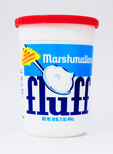 marshmallow fluff - fluffy stock photos and pictures