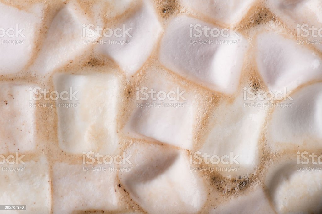 Marshmallow in Chocolate Background. royalty-free stock photo