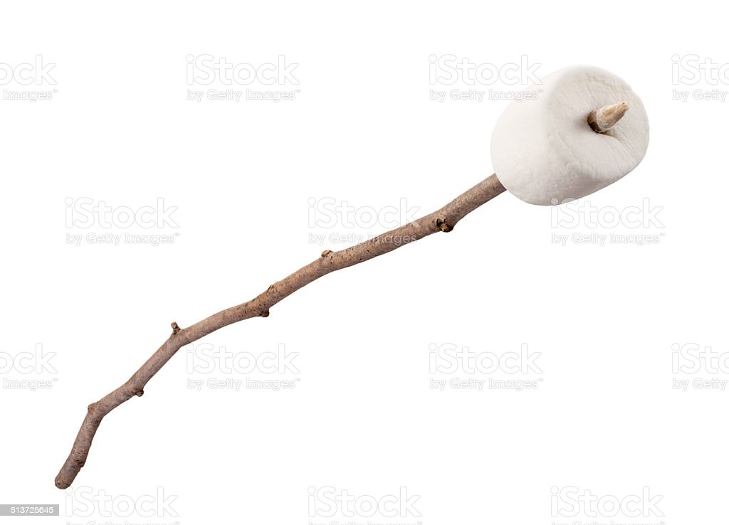 Marshmallow on a Stick stock photo