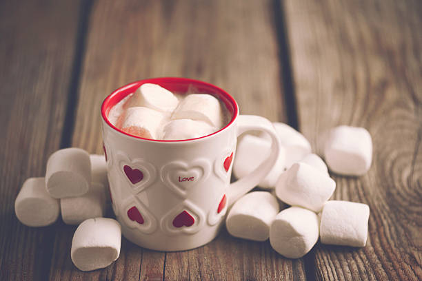 marshmallow - february stock photos and pictures