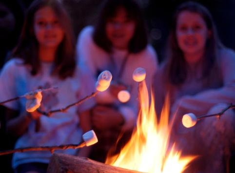Marshmallow Toasting Stock Photo - Download Image Now