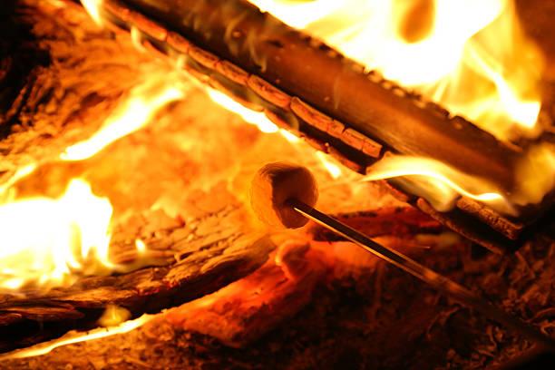 marshmallow anstoßen - rustikaler hinterhof stock-fotos und bilder