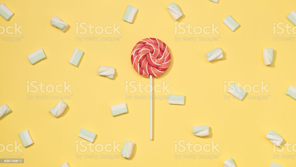 Marshmallows flat lay royalty-free stock photo